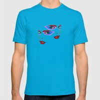 Two Sides Mens Fitted Tee Teal SMALL