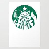 Starfox Coffee Art Print