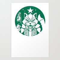 Starfox Coffee Art Print