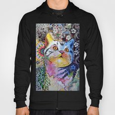 Chloe ... Abstract cat art Hoody