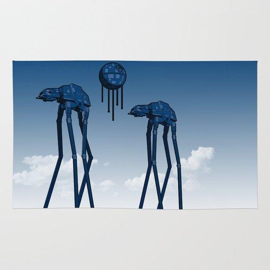 Dali's Mechanical Elephants - Blue Sky Area & Throw Rug
