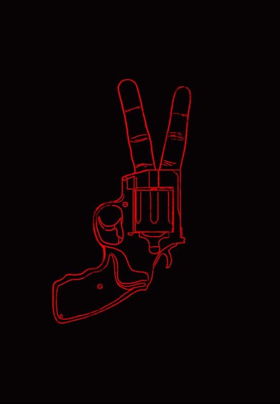 Peace Bang Art Print