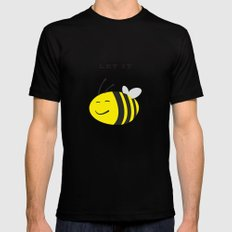 Let it bee. Mens Fitted Tee Black SMALL