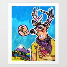 Swift Deer Art Print