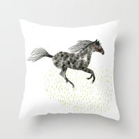 Running Horse Throw Pillow