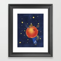 The Prince and the Rose Framed Art Print