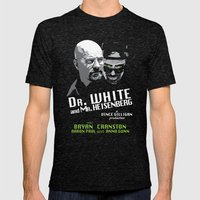Dr. White And Mr. Heisen… Mens Fitted Tee Tri-Black SMALL