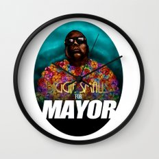 Biggie Smalls for Mayor Wall Clock