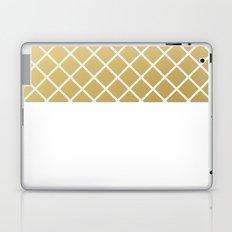 Pineapple Pattern Gold Laptop & iPad Skin