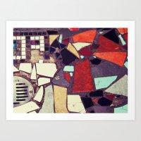 Colorful Abstract Mosaic No.1 Art Print