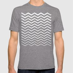 Zag Mens Fitted Tee Tri-Grey SMALL
