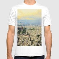 Above Paris Mens Fitted Tee White SMALL