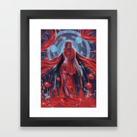 Blood witch Framed Art Print