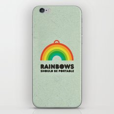 Rainbows should be portable. iPhone & iPod Skin