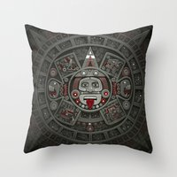Stone of the Sun I. Throw Pillow