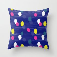 Spotty Blue Throw Pillow