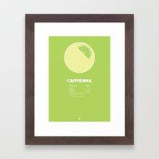Caipirinha Cocktail Recipe Poster (Metric) Framed Art Print