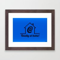 Finally at home Framed Art Print