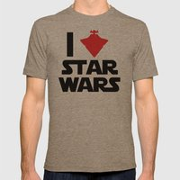 I Heart Star Wars Mens Fitted Tee Tri-Coffee SMALL