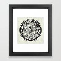 Cicrle Doodle Framed Art Print
