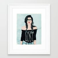 Framed Art Print featuring ALL IS NOT LOST by Stephan Parylak