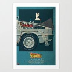 DeLorean Time Machine, Back to the Future Version 2 III/III Art Print