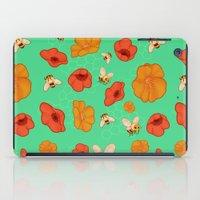 Poppies & Bees iPad Case