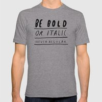 NEVER Mens Fitted Tee Athletic Grey SMALL