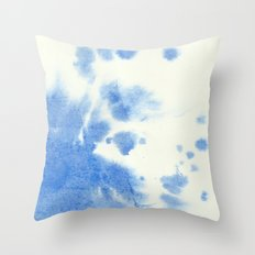 Blue watercolor Throw Pillow