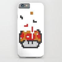 iPhone & iPod Case featuring Super Mario Mushroom Tetris by Tombst0ne