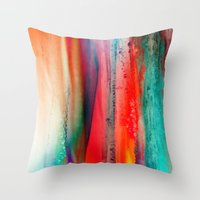 Ice Curtain Throw Pillow