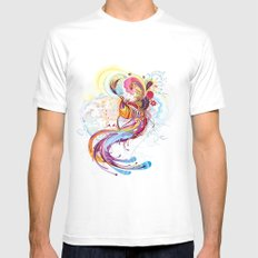Phoenix White Mens Fitted Tee SMALL