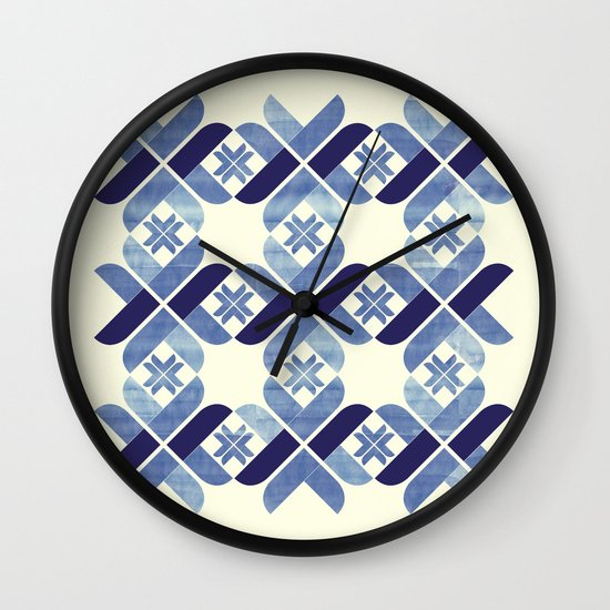 Nordic Blue Wall Clock