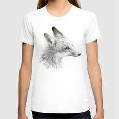 A Young Fox Womens Fitted Tee White SMALL