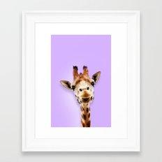 A giraffe for friend Framed Art Print