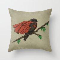 Super Bird Throw Pillow