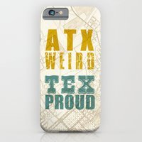 iPhone & iPod Case featuring ATX Weird TEX Proud by The Omnivore