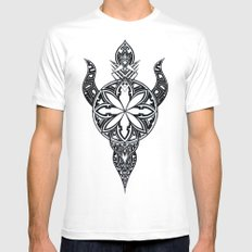 Flower of the sun Mens Fitted Tee SMALL White