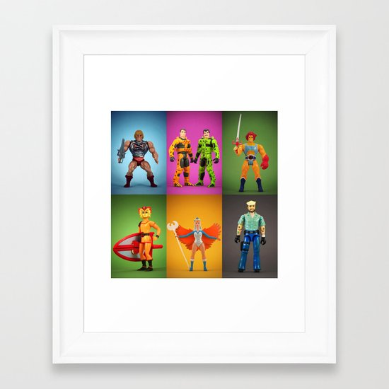 Retro Plastic  Framed Art Print