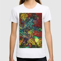 The Van Gogh Tree Womens Fitted Tee Ash Grey SMALL