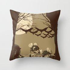 Woodland wars Throw Pillow