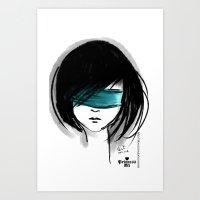 Close My Eyes Art Print