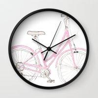Pink Bike Wall Clock