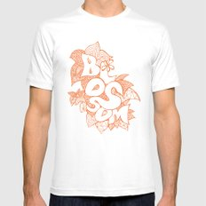 Blossom SMALL White Mens Fitted Tee