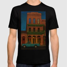 The Visitor Black SMALL Mens Fitted Tee