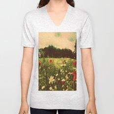Poppies In Pilling  Unisex V-Neck