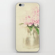 Antique Peony Bouquet in Stainless Pitcher Still Life Floral iPhone & iPod Skin