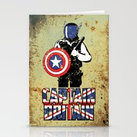 Captain Britain Stationery Cards