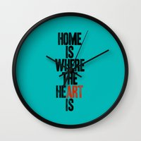 HOME IS WHERE THE HE(ART… Wall Clock