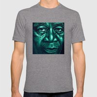 Freeman In Green Mens Fitted Tee Tri-Grey SMALL